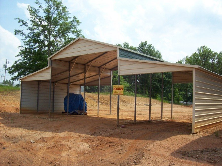 Attached carports garages pinterest for Shed with carport attached