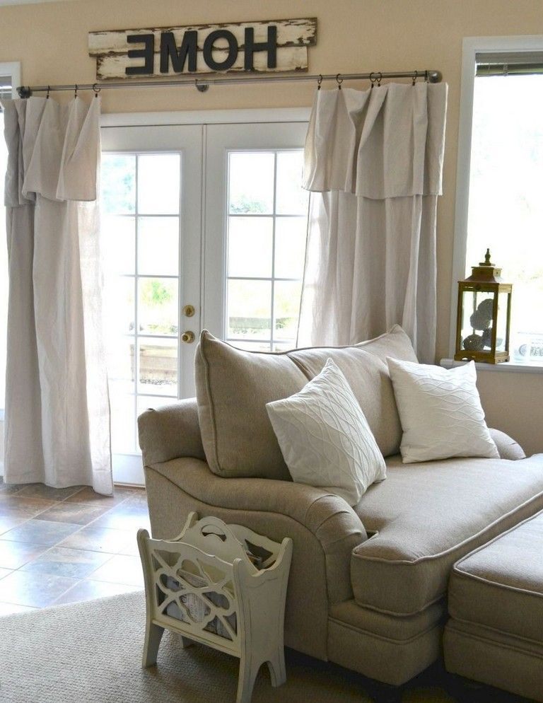 90+ Awesome Modern Farmhouse Curtains for Living Room ... on Farmhouse Curtain Ideas For Living Room  id=97967