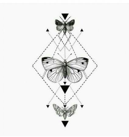 Photo of 62 idées tatouage géométrie papillon géométrique