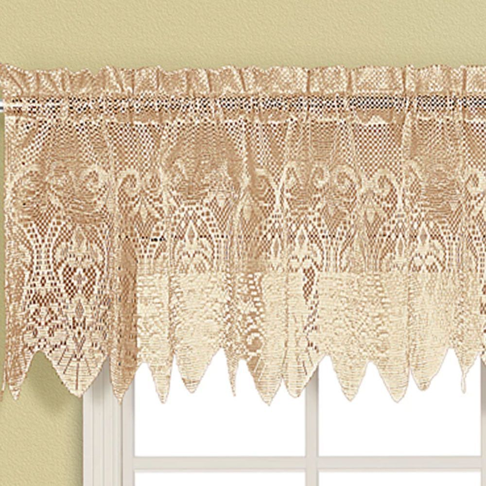 Valerie macrame sheer kitchen valance swags and tiers pinterest