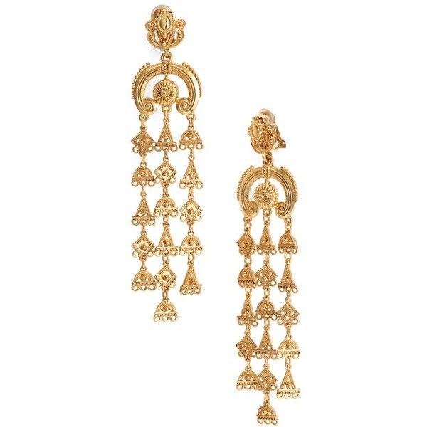 Womens oscar de la renta ornate charm chandelier clip earrings womens oscar de la renta ornate charm chandelier clip earrings 938600 cop liked aloadofball Gallery