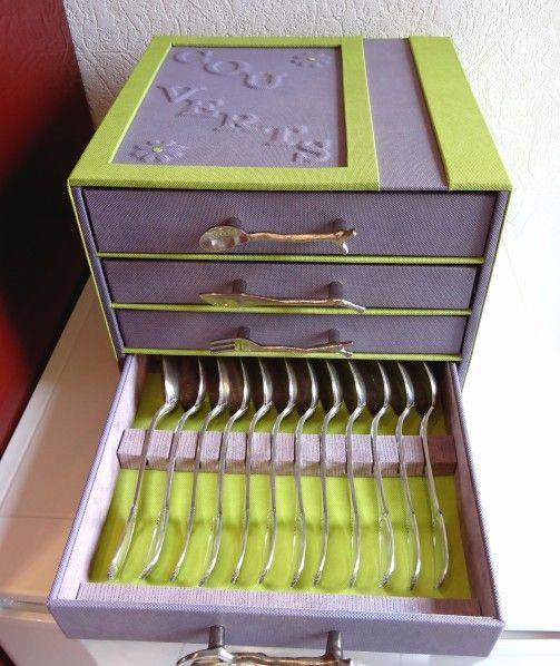 range couverts gilberte7 jpg cartonnage pinterest cartonnage encadrement et carton. Black Bedroom Furniture Sets. Home Design Ideas