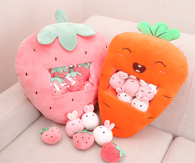 Kawaii Fruit Dolls Pillow #stuffedanimals