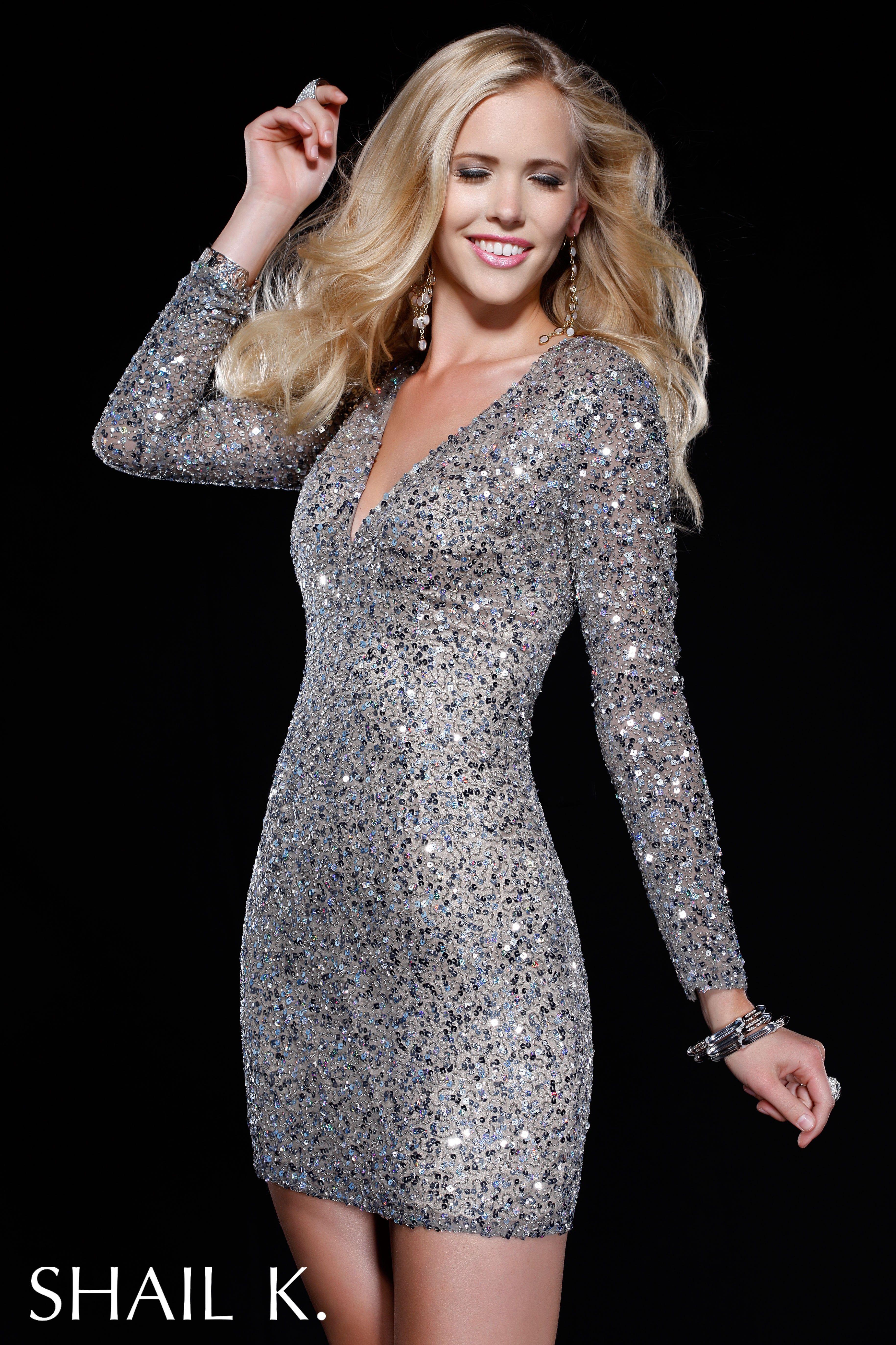 Designer long sleeve dresses on sale
