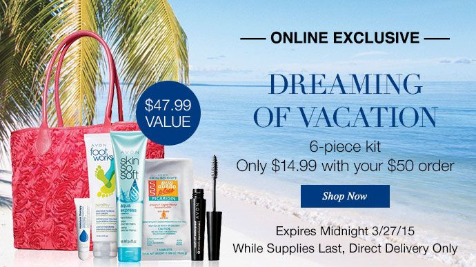 Online Exclusive 6 Piece Kit Only 1499 With Your 50 Order Avon