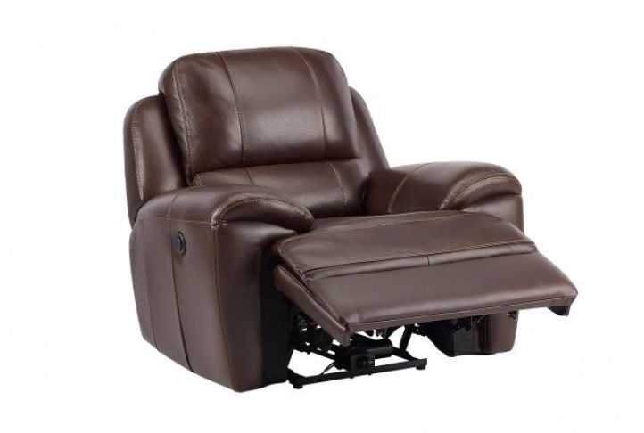 Prime Finley Electric Reclining Armchair Brown Leather Recliner Inzonedesignstudio Interior Chair Design Inzonedesignstudiocom
