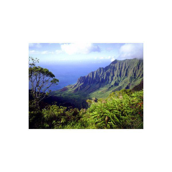 View Above the Na Pali Coast, Kauai, Hawaii, USA Photographic Wall Art... (350 NOK) ❤ liked on Polyvore featuring home, home decor, wall art, photographic wall art, home wall decor, interior wall decor and photography wall art