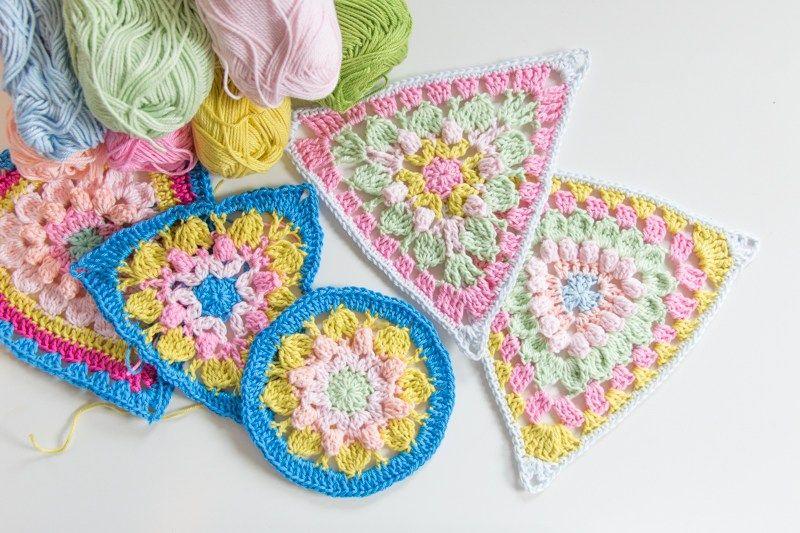 Vlaggetjes Haken Voor Het Goede Doel Granny Square Crochet
