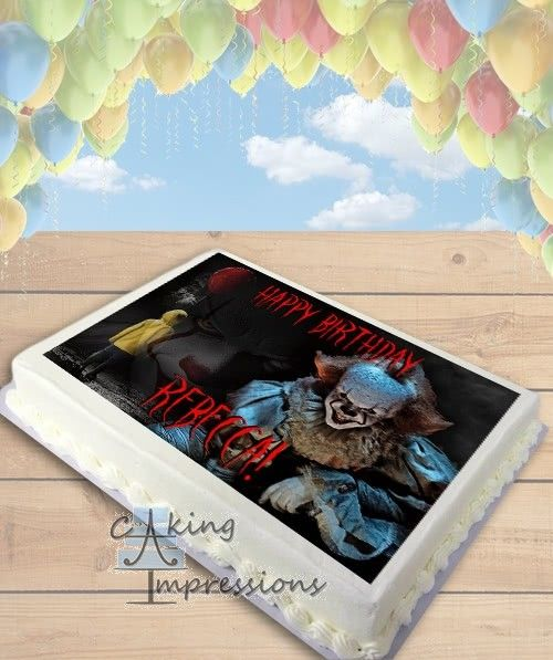 It Pennywise The Clown 2017 Horror Edible Frosting Image