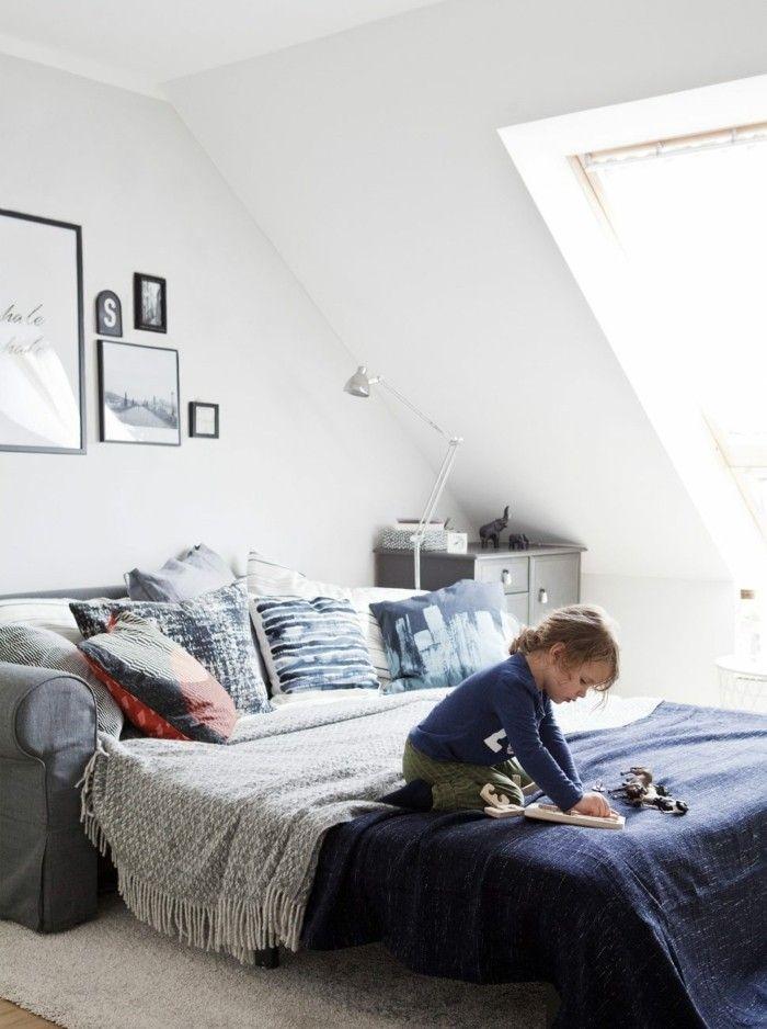Kleines Schlafzimmer einrichten und den verfügbaren Raum optimal nutzen   Home, Home decor, Sofa bed
