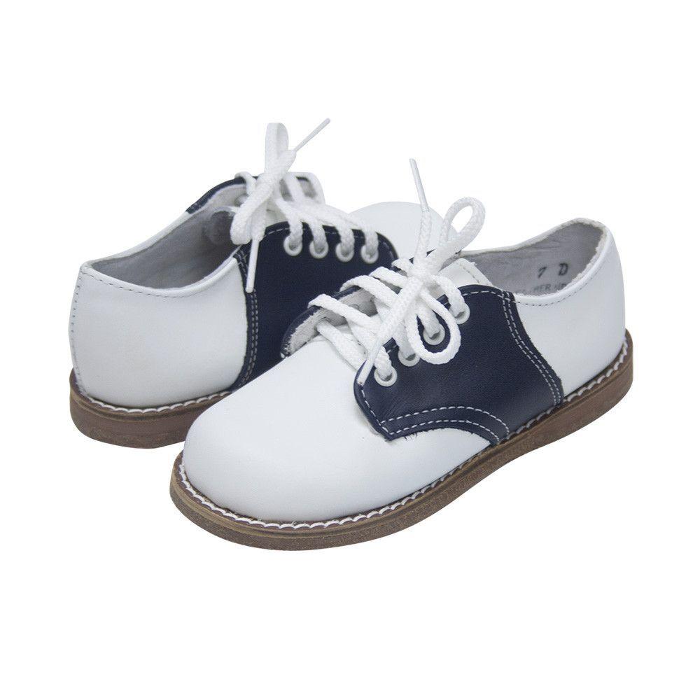 Saddle Oxford Shoes - White Leather