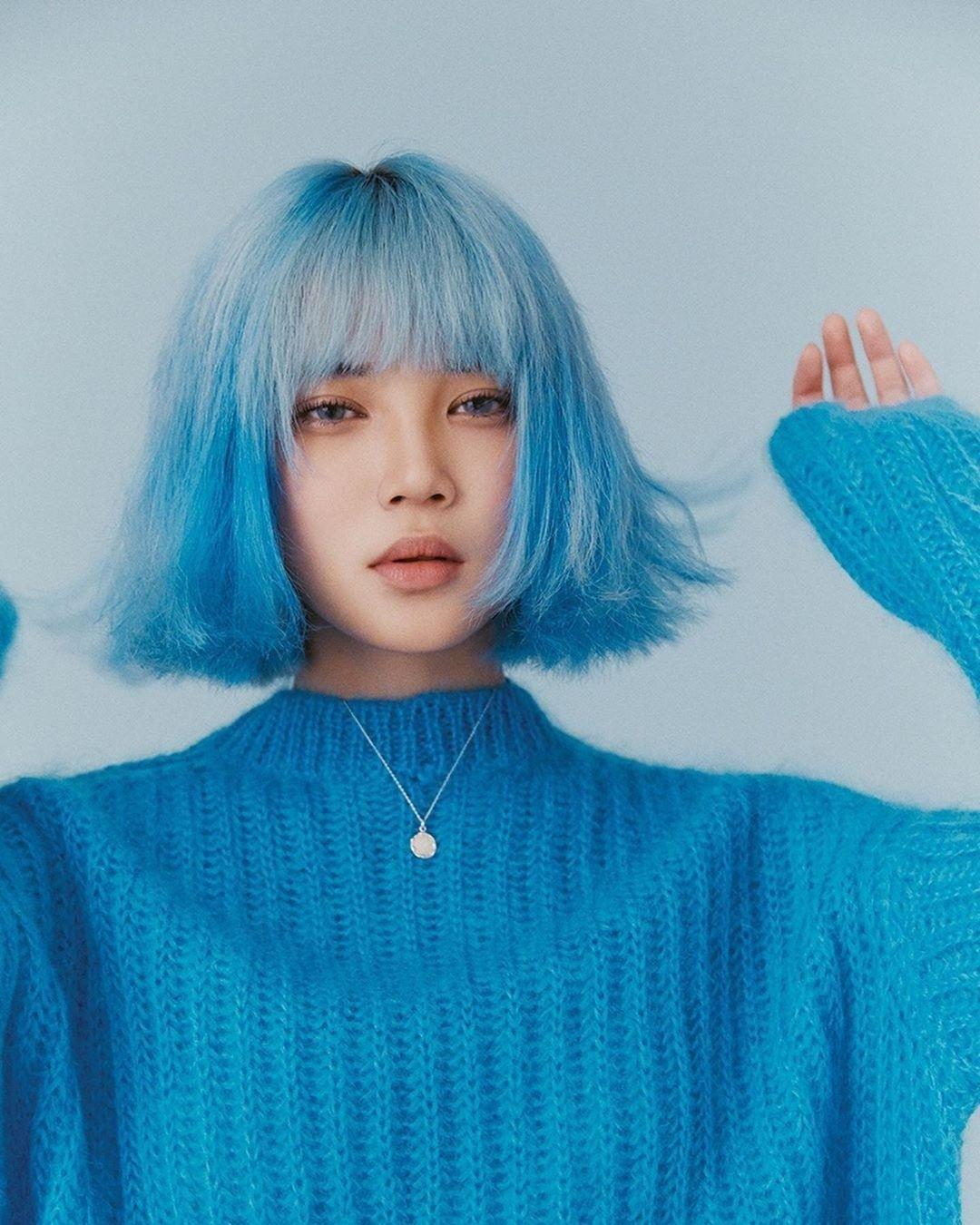 By Dazed Kr Aesthetic Hair Hair Inspo Color Blue Hair