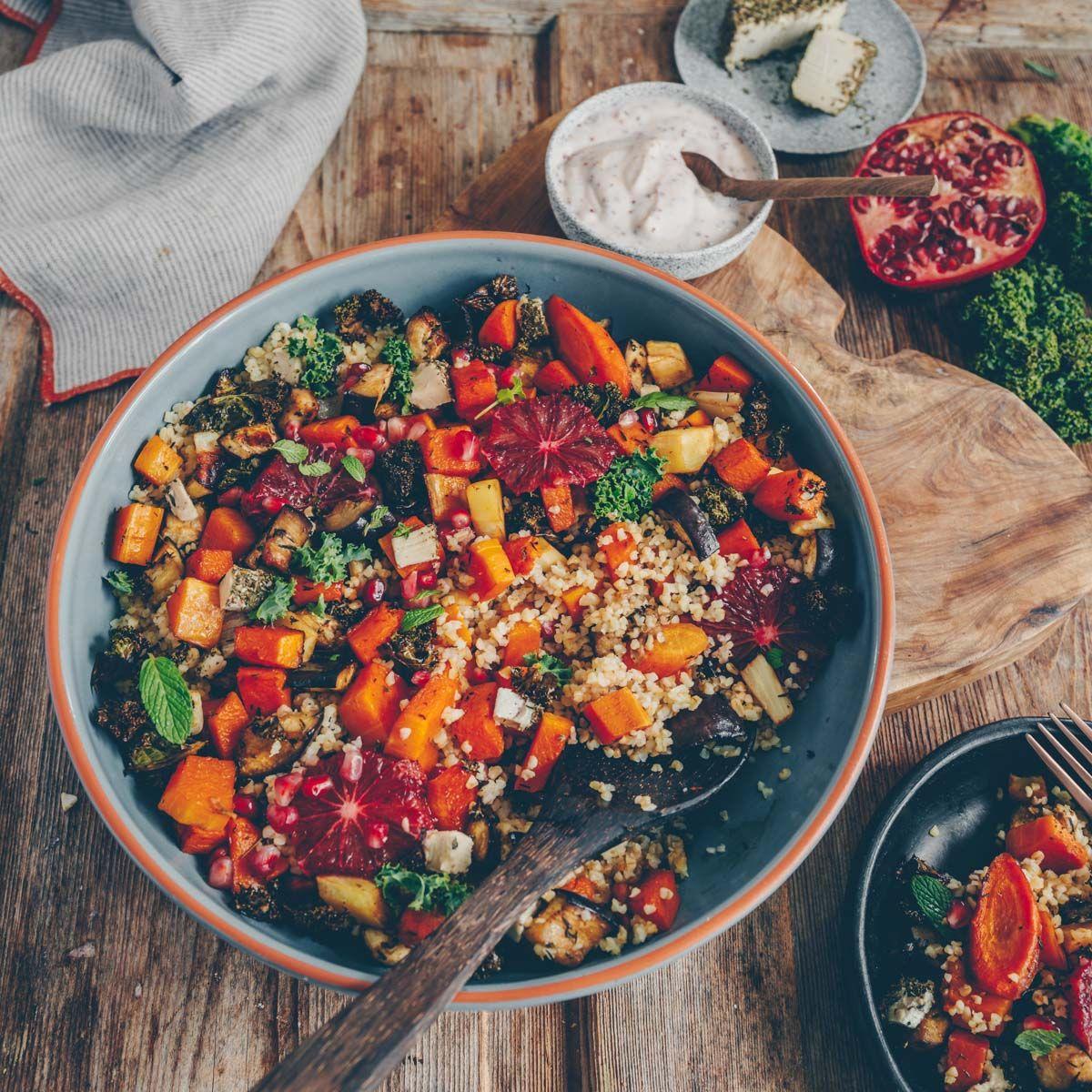 Buntes Ofengemüse mit Bulgur  Freistyle – Verena Frei   Recipe ...