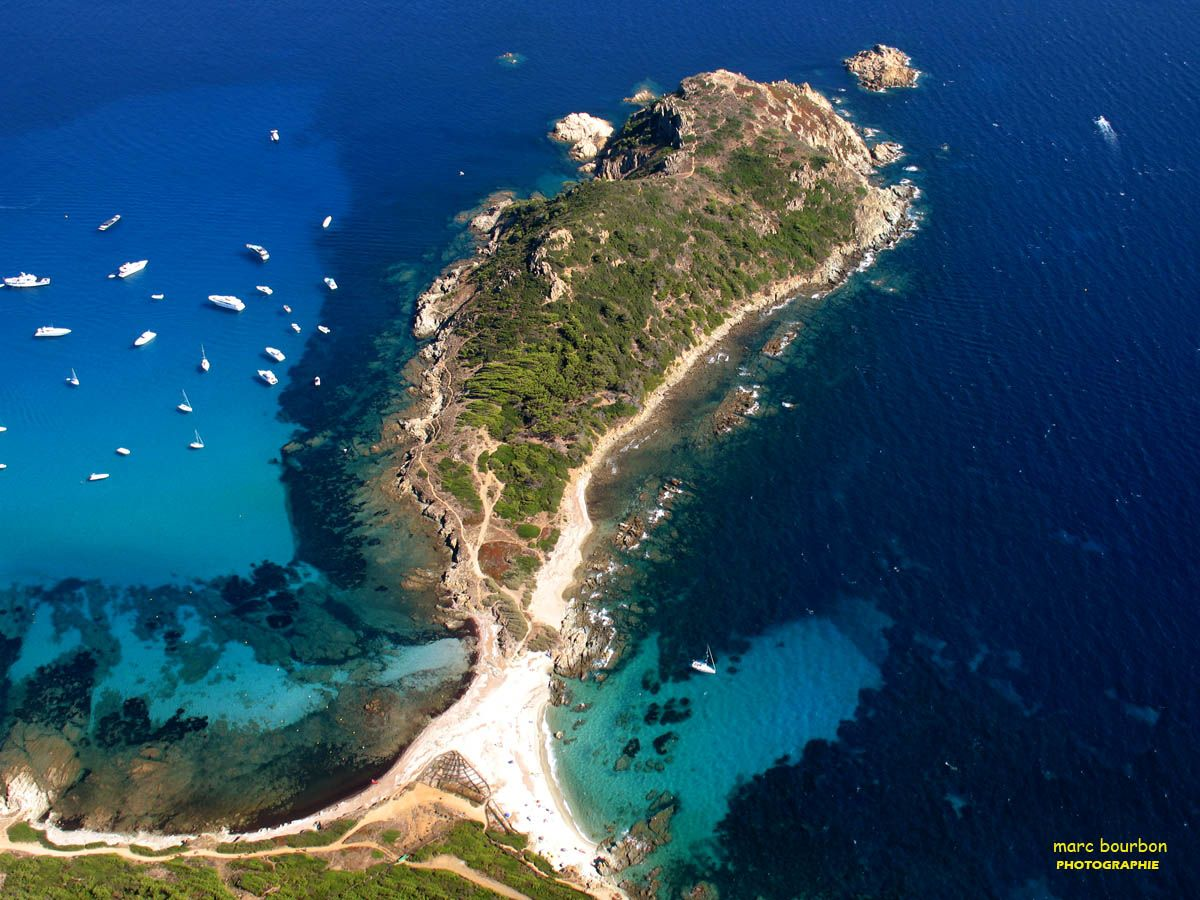 View of Ostriconi beach with beautiful sea lagoon, Corsica