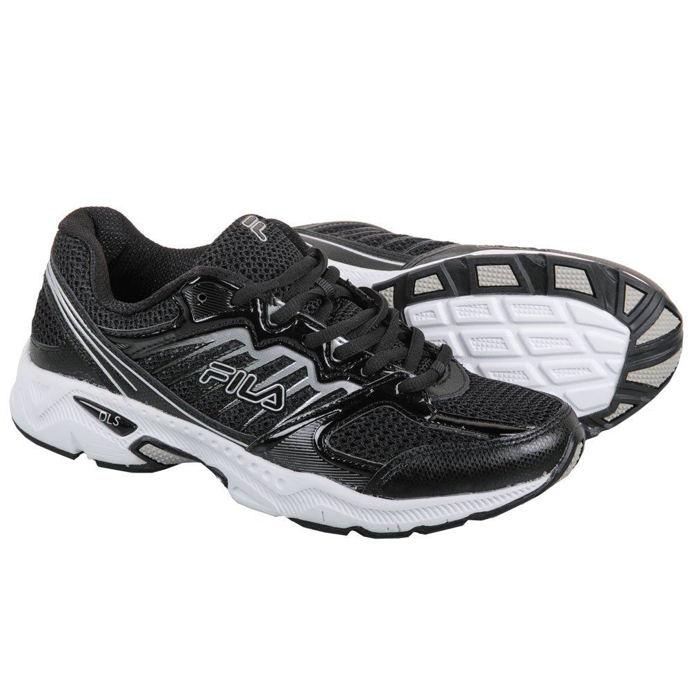 Men's Synthetic Leather Trainer Shoes 10 Black