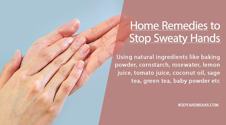 how to prevent hands from sweating