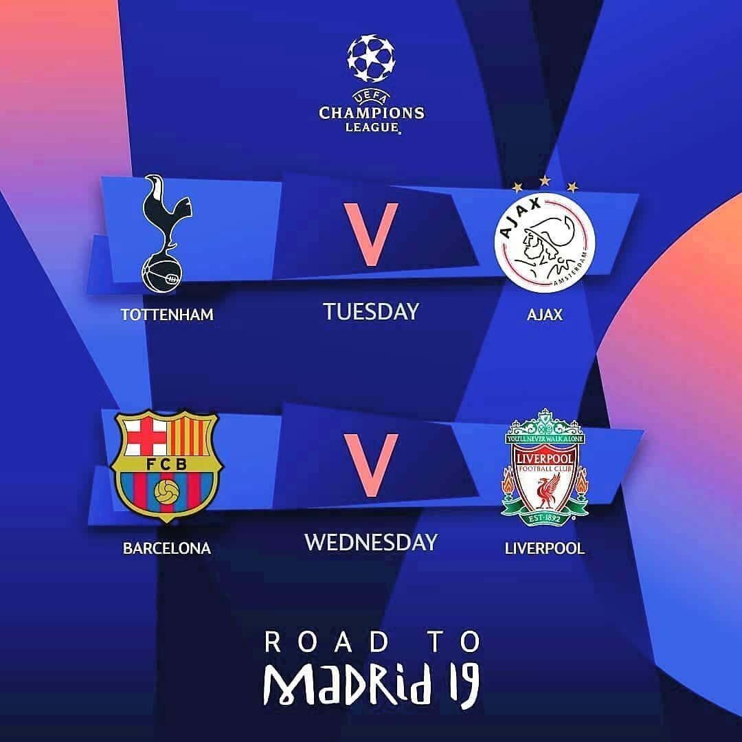 Jadwal Semi Final Leg 1 Prediksi Skor Guys Ucl Uefachampionsleague Ligachampions Jadwal Semi Final Leg 1 P Champions League Uefa Champions League League
