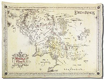 The Lord Of The Rings Poster Parchment Map Of The Middle Earth 26