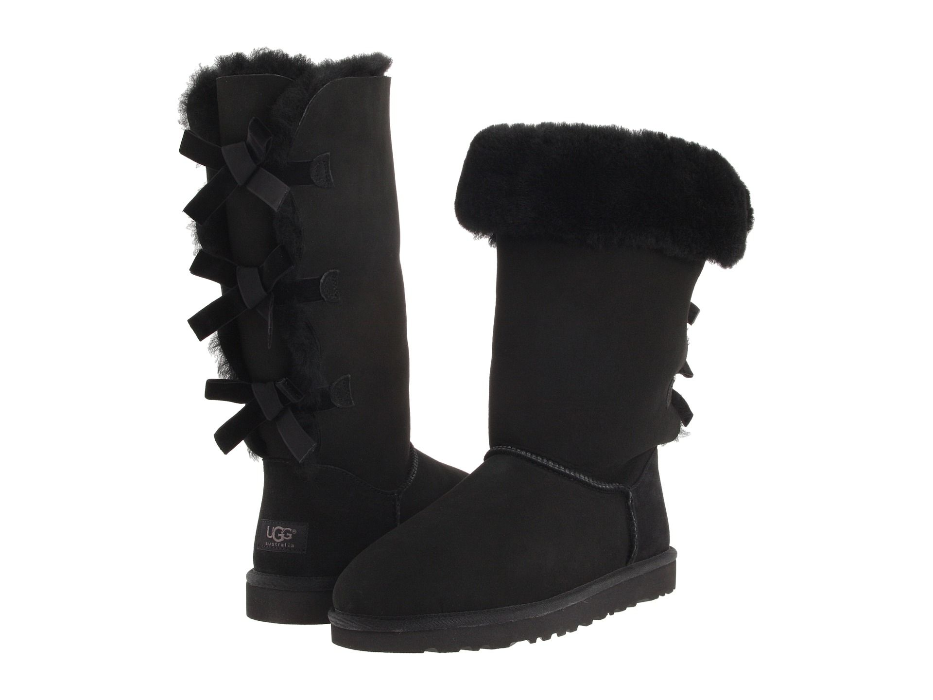 a142d9d61ab UGG Bailey Bow Tall Boot - Zappos Exclusive Black - Zappos.com Free ...