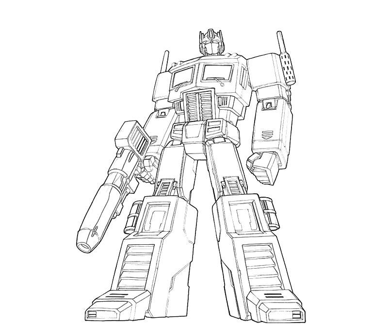 Optimus Prime Coloring Pages Printable 360272 Jpg 800 667 Bee