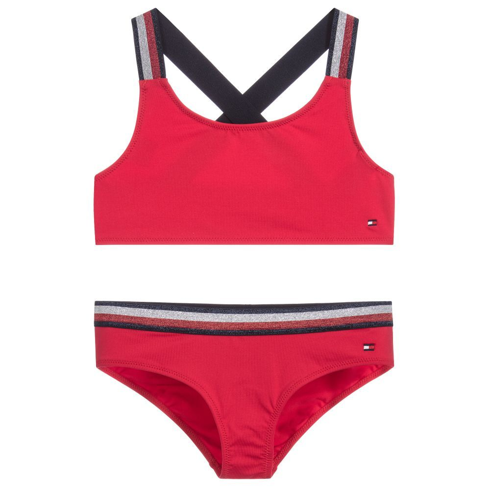 Girls Red Bikini For Girl By Tommy Hilfiger Red Bikini Bikinis Tommy Hilfiger Girl