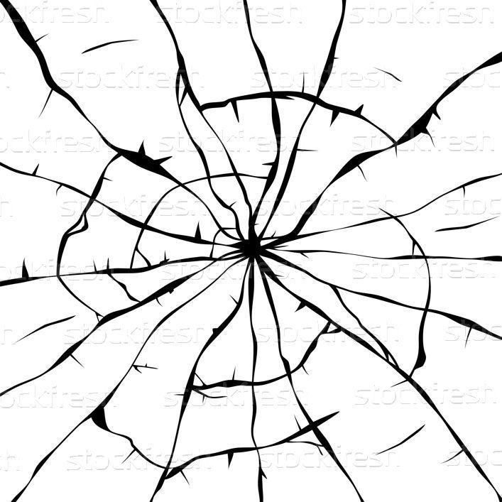 Vector Black And White Background Of Broken Glass Vector