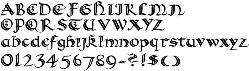 Calligraphy Fonts For PC And Mac Personal Computers