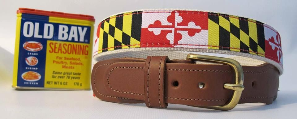 Maryland Belt And Old Bay Belt Maryland Flag Maryland