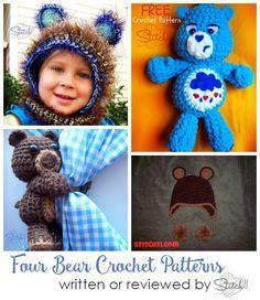 Four Bear Crochet Pa