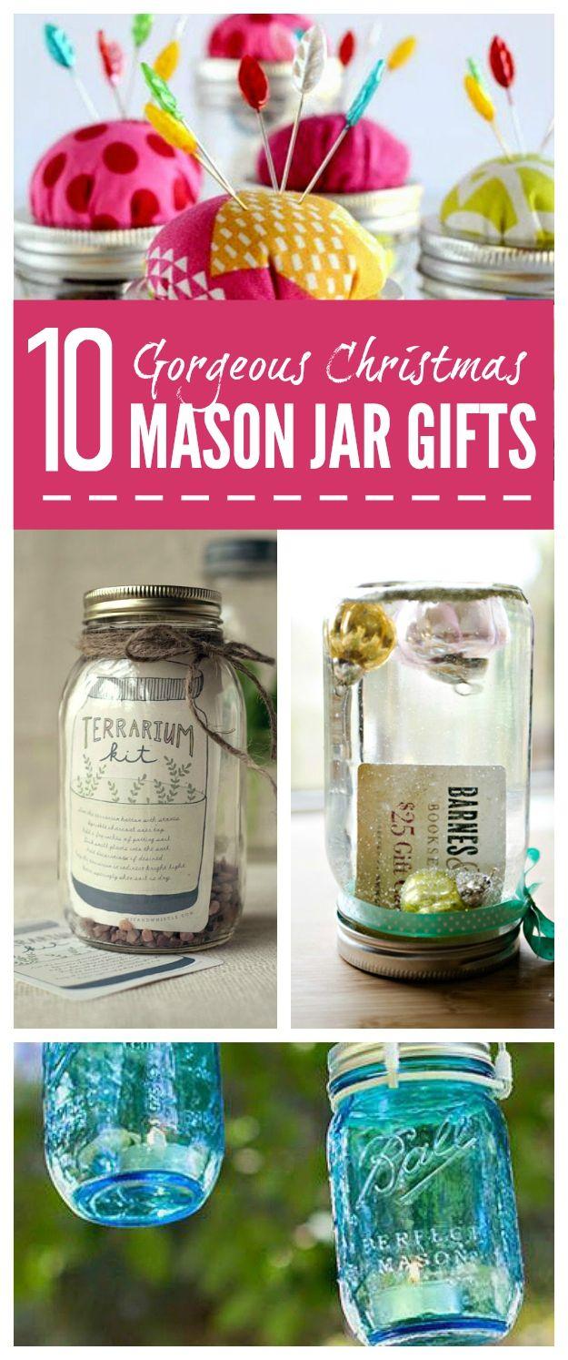 10+ Mason Jar Christmas Gift Ideas   Mason Jar Ideas -   Pinterest ...