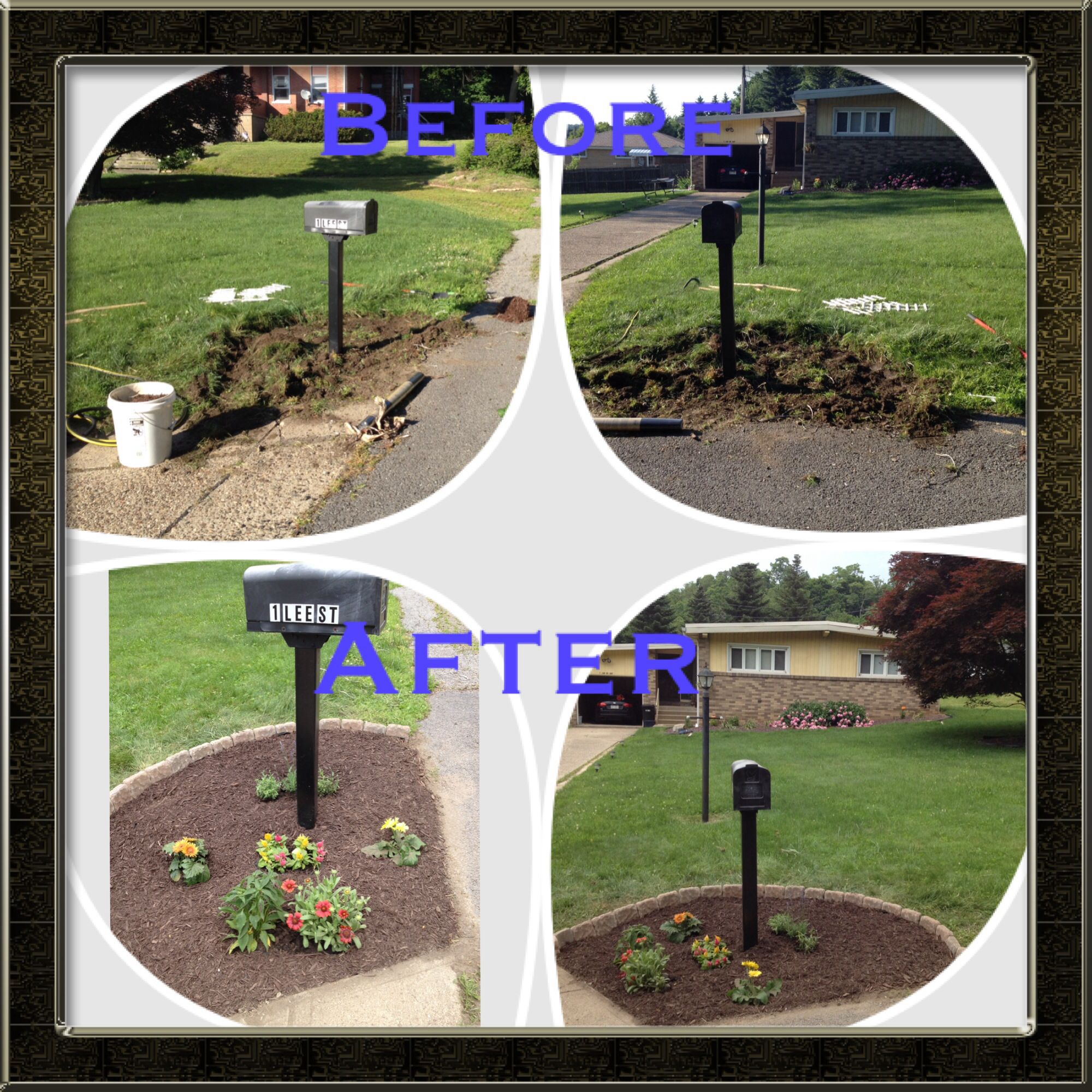 Mailbox Landscaping Before After Budget Fix Up Mailbox Landscaping Plants Landscape