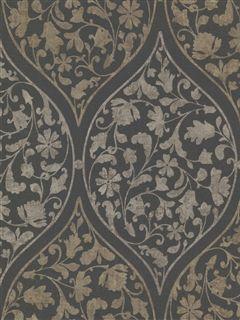 Zinc Wallpaper | Moroccan scrolling vines | AmericanBlinds.com