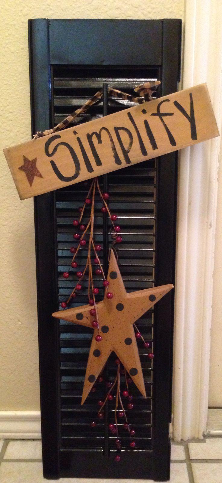 Easy to make primitive home decor | My Wishlist | Pinterest ...