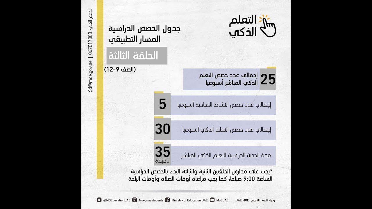جداول الحصص الدراسية المقررة لما بعد شهر رمضان فى الامارات