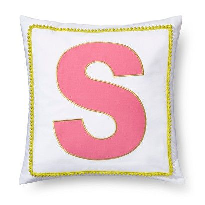 PILLOWFORT POM POM Monogram Pillow
