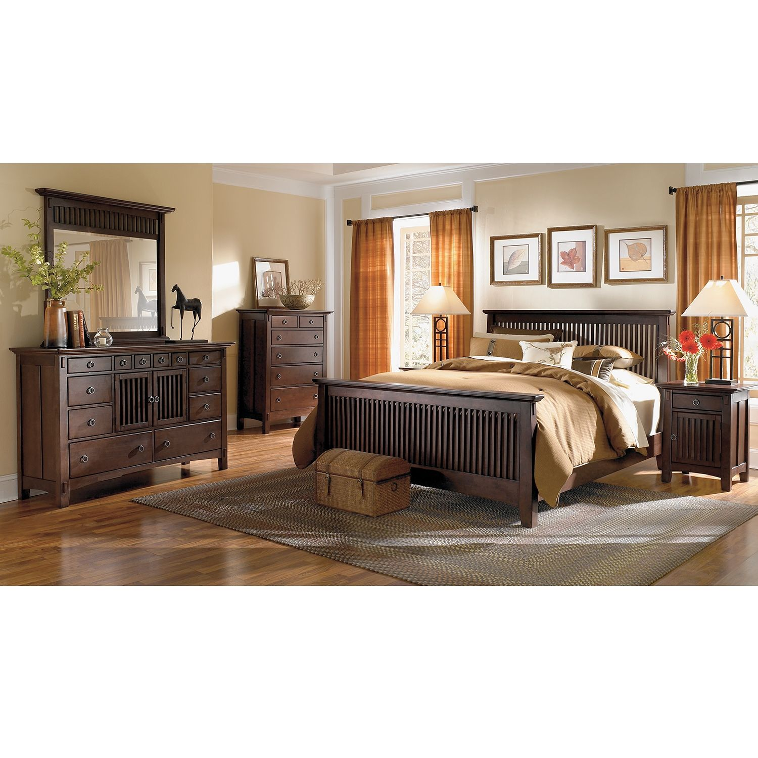 Arts & Crafts Dark Chest | American Signature Furniture | Ideas ...
