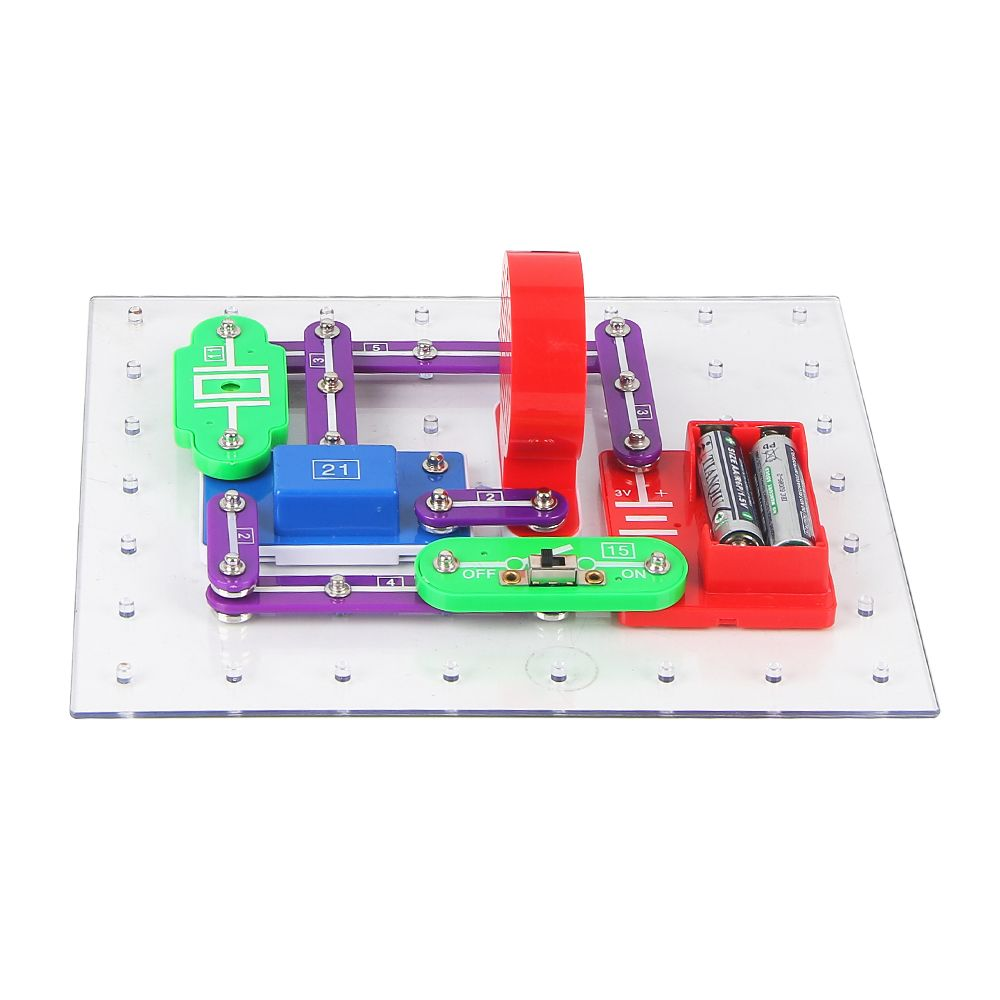 Electronics Learning Kit For Kids Best Electric Building Blocks To Snap Circuits Learn About Electricity And W335 By Keess Toys