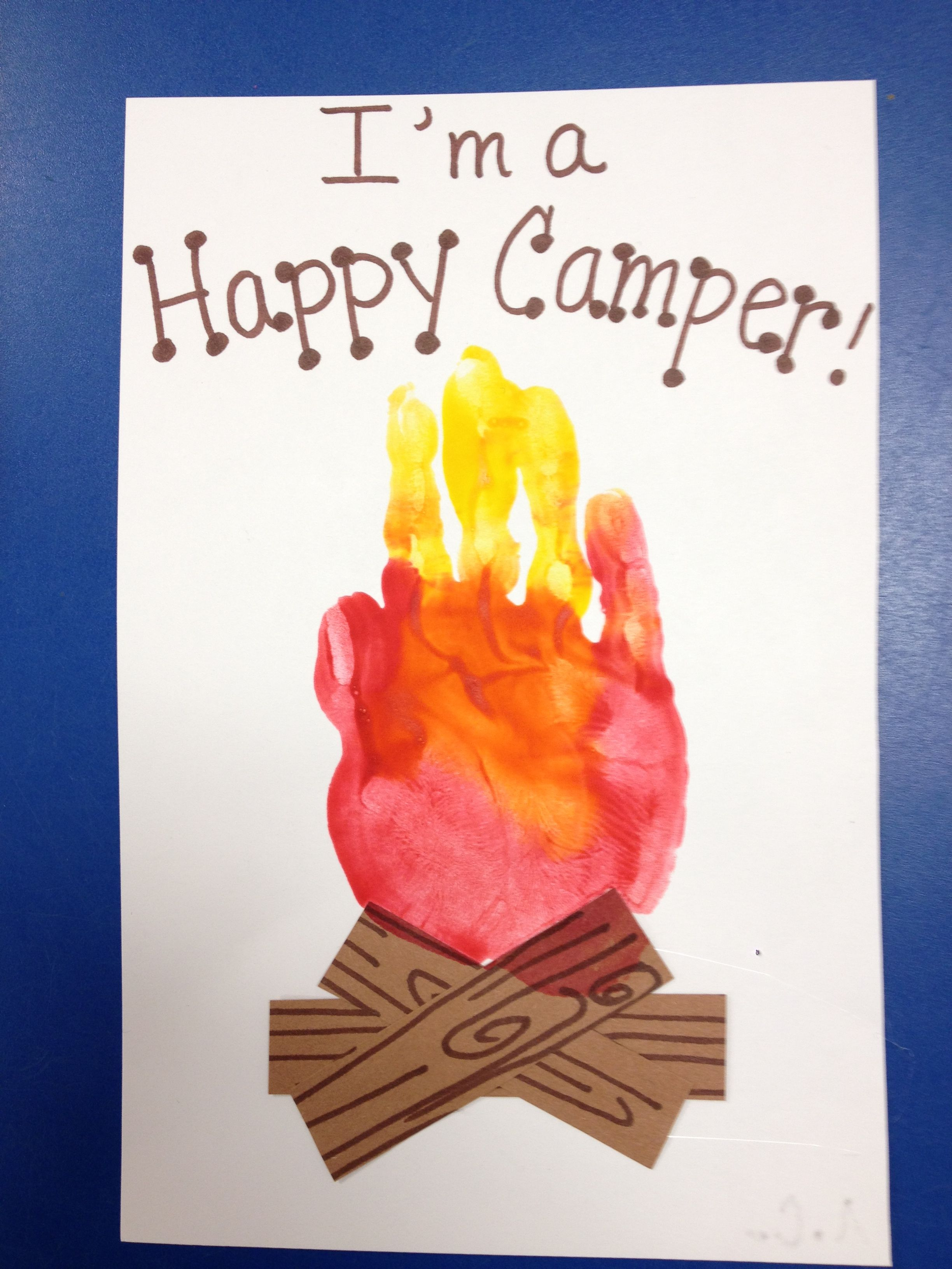 Camping Theme Campfire Handprint Craft For Kids