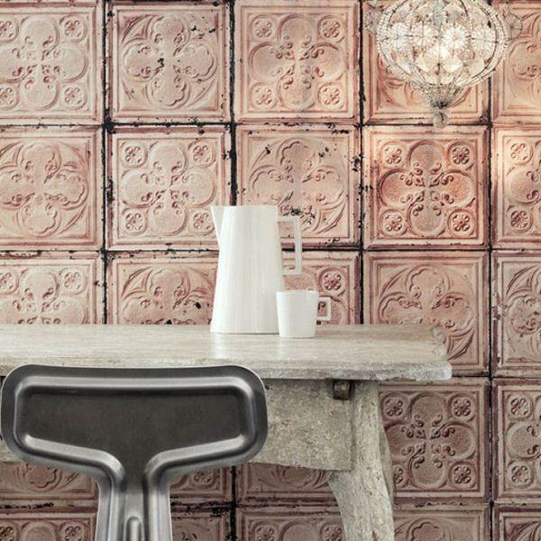 papier peint imitation carreaux de merci d co pinterest papier peint peindre et carreaux. Black Bedroom Furniture Sets. Home Design Ideas