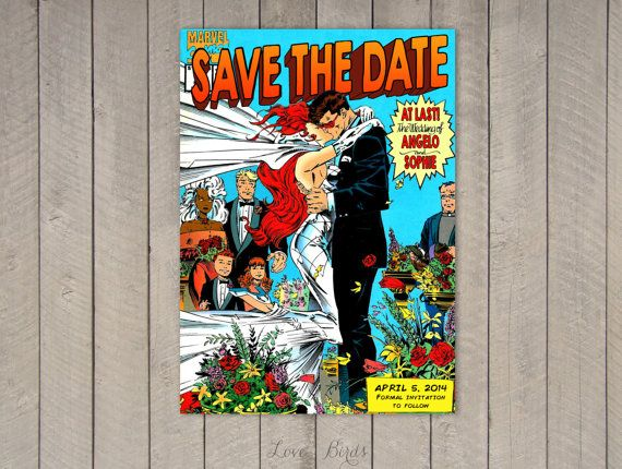 Comic Book Wedding Invitation X Men Save The Door Sophieslovebirds