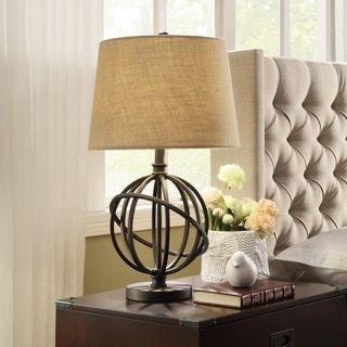 Cooper Antique Bronze Metal Orbit Globe 1light Accent Table Lamp