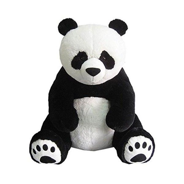 Giant Teddy Bear Panda.This HugFun Plush 53 inch Large Cuddly Toy... ❤ liked on Polyvore featuring toys