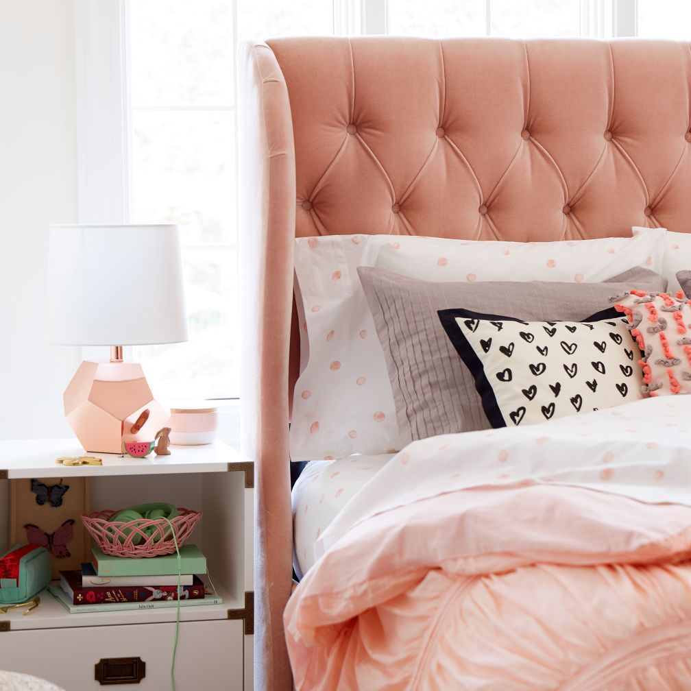 Monarch tufted bed the land of nod jade pinterest rose gold