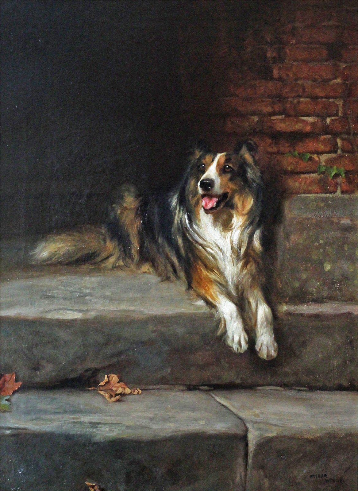 Victorian British Painting Dog Paintings Dog Paintings Nature
