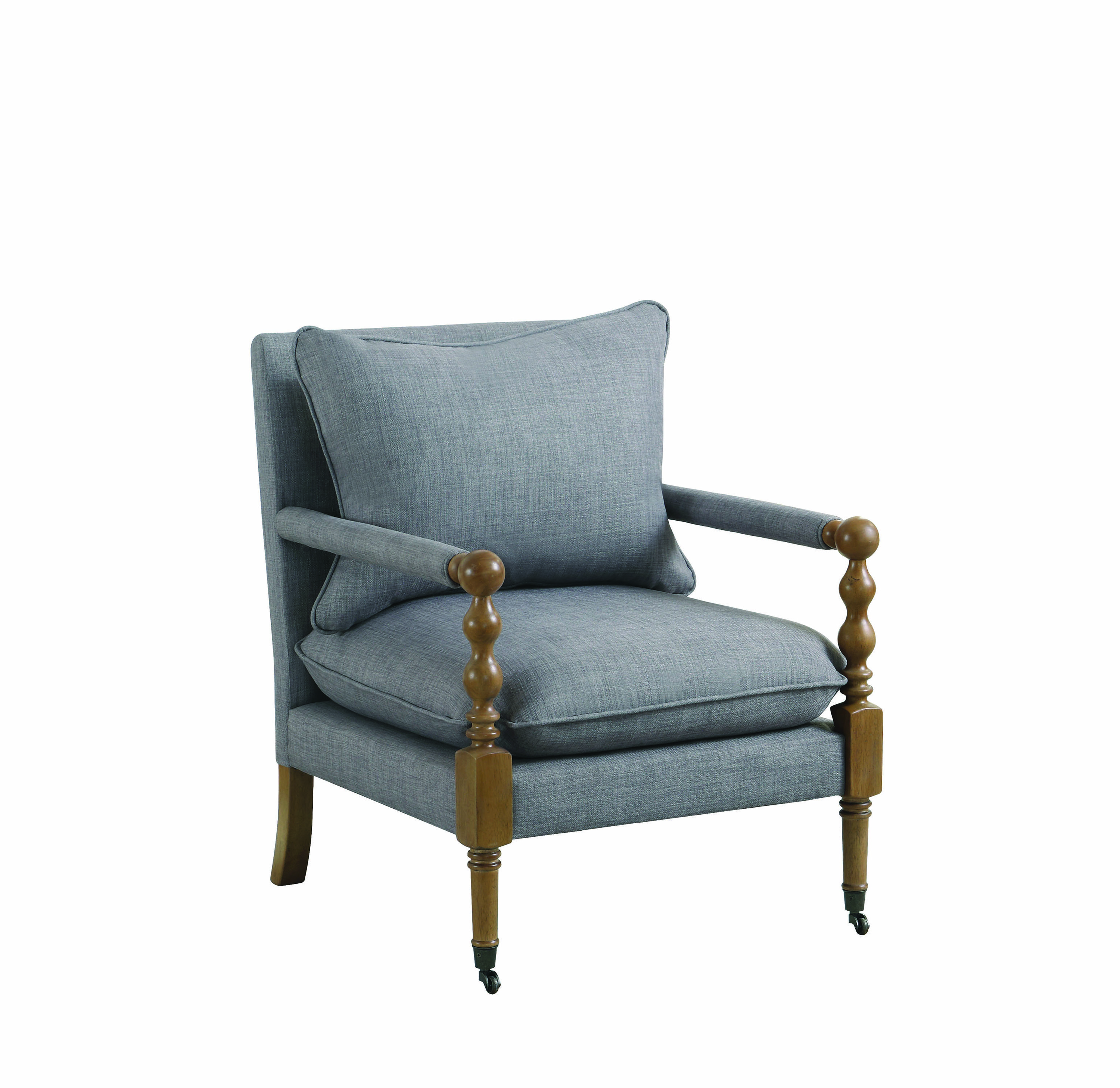 From One Of Jordan S Companies Upholstered Accent Chair Grey