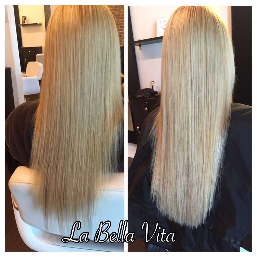 Before And After Babe Tape In Hair Extensions For Volume And