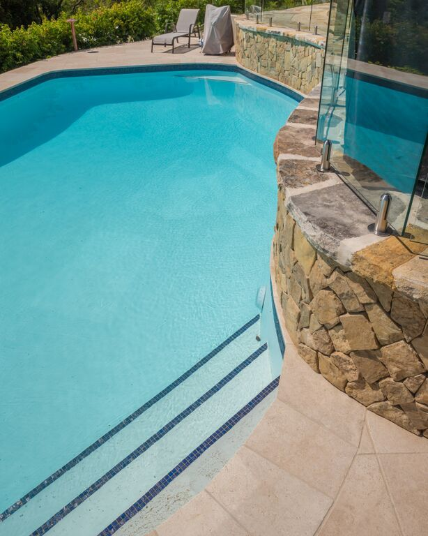 Domestic pool painted with LUXAPOOL Epoxy in White | Pool ...
