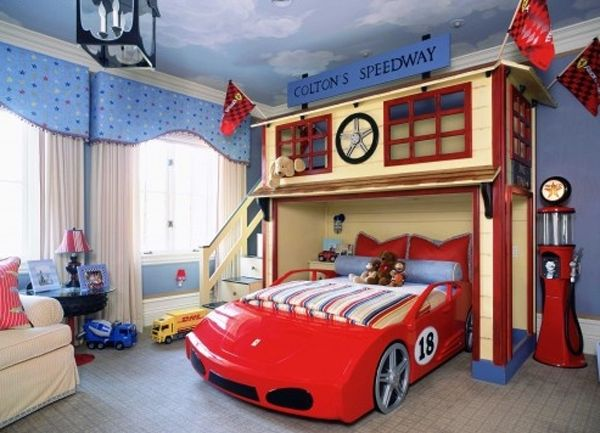 kids bedroom ideas with cars design