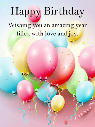 Have An Amazing Year Happy Birthday Card Birthday Greeting Cards By Davia Happy Birthday Wishes Cards Happy Birthday Wishes Quotes Happy Birthday Messages