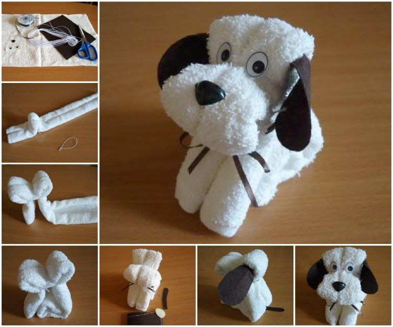 How To Make Washcloth Puppies - Video | The WHOot